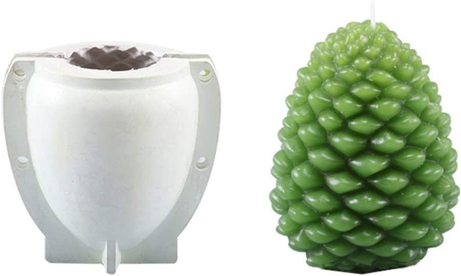 Baiyao Christmas Pinecone Candle Mold for DIY Christmas Gift ,Plastic Mould for Candle Making Kit