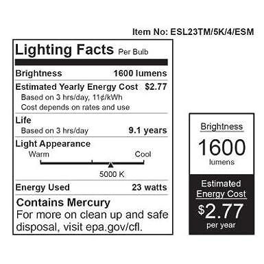 EcoSmart 100W Equivalent Daylight Spiral CFL Light Bulb 5000K 4-Pack ES5M8234RS50K