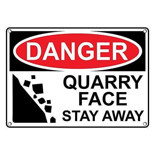 Weatherproof Plastic OSHA DANGER Quarry Face Stay Away Sign with English Text and - The At Shops Quarry