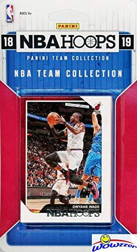 (Miami Heat 2018/2019 Panini Hoops NBA Basketball EXCLUSIVE Factory Sealed Limited Edition 8 Card Team Set with Dwyane Wade, Goran Dragic, Hassan Whiteside,Josh Richardson & Many More! WOWZZER!)