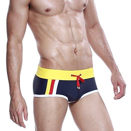 iMaySon SummerMace-up Fashion Underwear Sports Swimming Trunks Briefs (YeMMowBMack Size L)