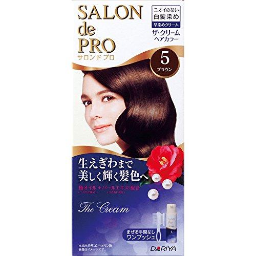 Dariya Salon De professional The cream hair color (for gray hair) 5 (Brown) (Best Salon Hair Color Brand For Gray Hair)