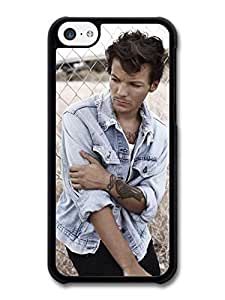 AMAF ? Accessories Louis Tomlinson Denim Jacket Tatoo 1D One Direction case for iPhone 5C