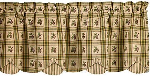 Park Designs Pine Lodge Scallop Valance, 60 x 15