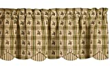 Park Designs Pine Lodge Scallop Valance, 60 x 15″