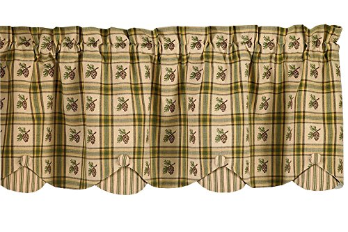 Pine Cone Lodge Country Kitchen Curtains