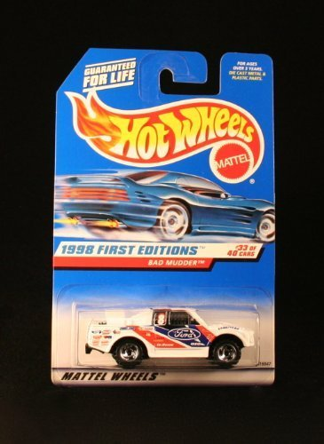 40 Ford Truck - Hot Wheels - 1998 First Editions - Bad Mudder - Ford Truck - Die Cast - Racing Paint Job - #33 of 40 Cars - Collector #662 - Limited Edition - Collectible 1:64 Scale
