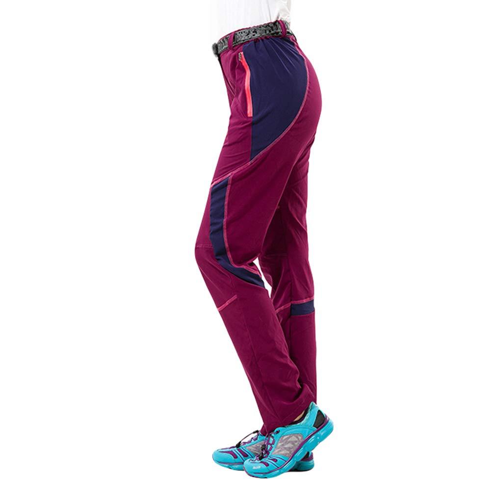 LaoZan Unisex Outdoor Pantalon Trekking Mince L/éger /Étanche Pantalon Sport /À S/échage Rapide L/éger Respirant Pantalon de Jogging Randonn/ée avec Ceinture