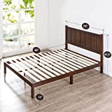 Zinus Adrian Wood Rustic Style Platform Bed with