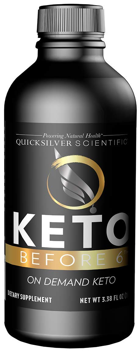 Quicksilver Scientific Keto Before 6 Liquid - Enjoy Carbs While on Keto, Help Return The Body to Keto + Allow for More Flexible Protocols (3.38 Ounces, 100 Milliliters)