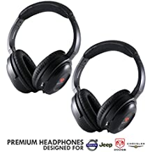 Car Headsets (Pack of 2) Part # 05091149AA & Part # 05064073AE Headphones by Drive Audio for Chrysler, Dodge, Jeep and Volkswagen