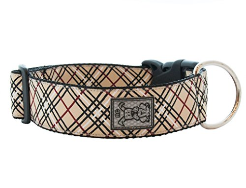 RC Pet Products 1-1/2-Inch Wide Dog Clip Collar, Large 15 to 25-Inch, Tan Tartan
