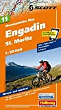 MTB-Karte 11 Engadin - St. Moritz 1:50.000: Mountainbike Map (Hallwag Mountainbike-Karten)