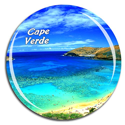 Praia Cape Verde - Praia Cape Verde Fridge Magnet 3D Crystal Glass Tourist City Travel Souvenir Collection Gift Strong Refrigerator Sticker