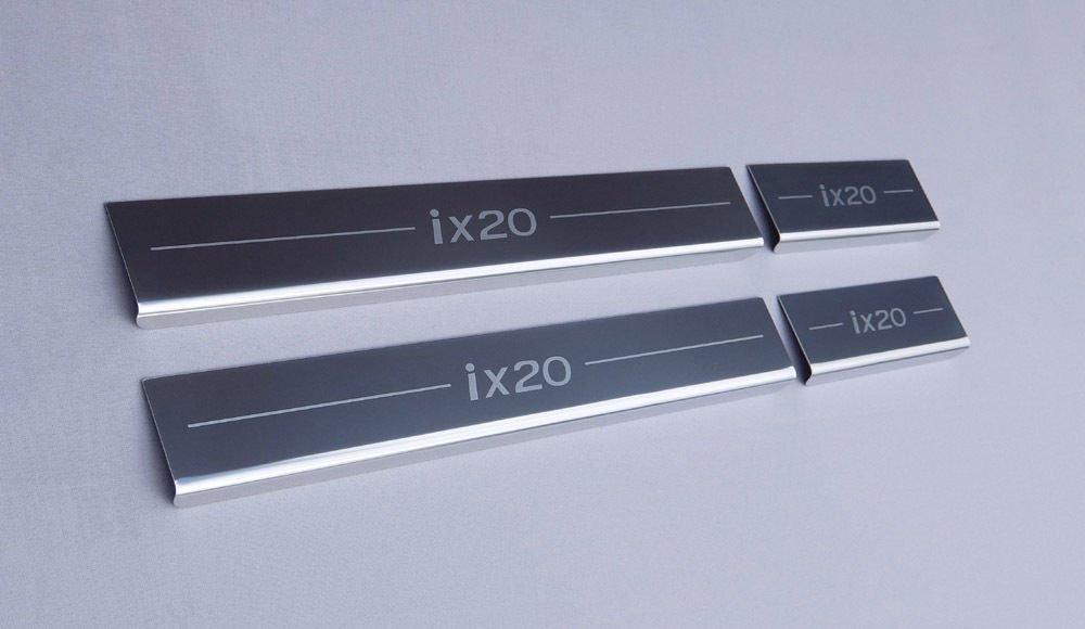 ix20 (2010 onwards) 4 Door Sill Protector Kick Plates Lockwood