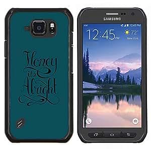 Caucho caso de Shell duro de la cubierta de accesorios de protección BY RAYDREAMMM - Samsung Galaxy S6Active Active G890A - La miel está bien