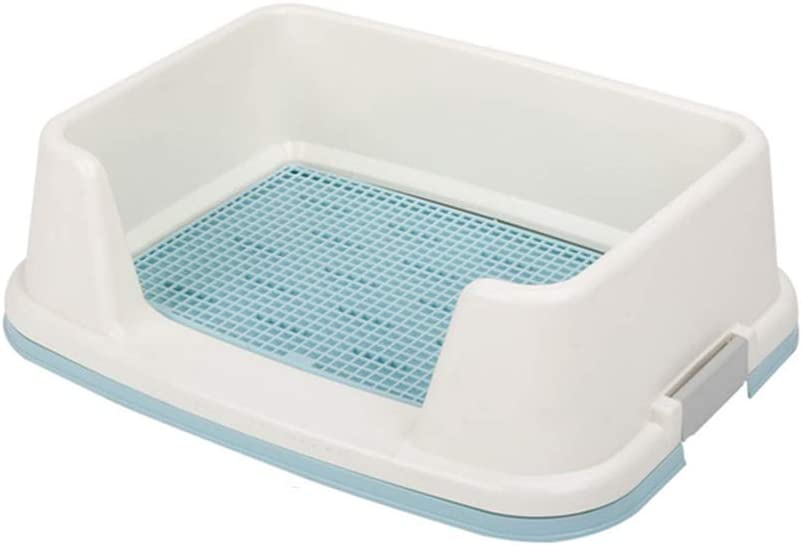 YF Dog Toilet Pet Potty Urinal Small Dog Teddy Supplies with Fence Clean and Hygienic Pet Supplies Color : Blue, Size : L