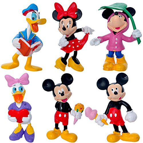 - BestKept Toys Mickey Mouse Cake Topper Set - 6 PCS Mickey Mouse Clubhouse Minnie Donald Duck Figurine Action Figure Doll Toys Cake Topper Set Suitable For Babies and Children
