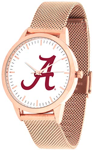 Alabama Crimson Tide - Mesh Statement Watch - Rose Band