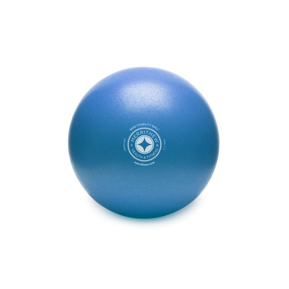 STOTT PILATES Mini Stability Ball (Blue), 7.5 Inch / 19 cm
