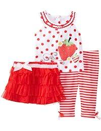 Baby Girls' 3 Piece Strawberry Skirt Set