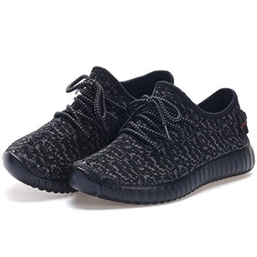 Desdemona Chaussures Pour Hommes Mode Confortable Non Slip Maille Sneaker Pour Garçon Casual Noir
