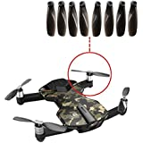 Inverlee 8PCS New Wingsland S6 Pocket Fold Drone RC Quacopter Spare Part Blade Propellers (Black)