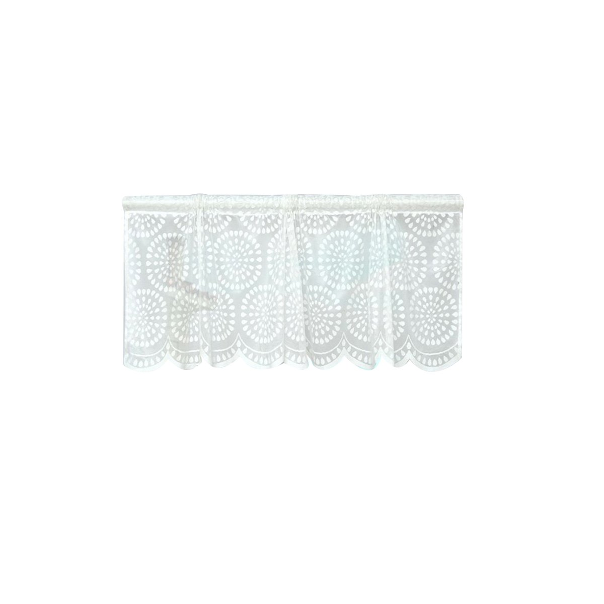 VORCOOL Window Short Curtains Decorative Sun Proof Shade Screen Purdah Curtain Valance (White Dot)