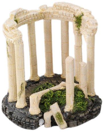 Aqua Della romano della colonna decorazione acquario, 16x 16x 16.5cm Europet-Bernina 234-411100