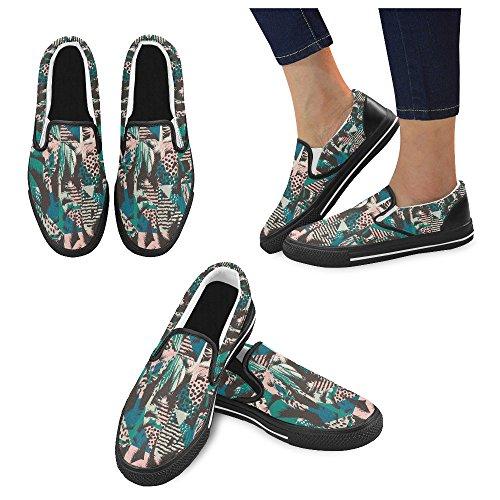 Unieke Debora Custom Fashion Dames Sneakers Ongebruikelijke Loafers Instappers Canvas Multicoloured19
