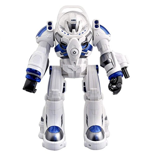 Bestoying Spaceman RC Robot With Shoots Soft Rubber Missiles, Flashing Lights and Sound, Walking Talking and Dancing