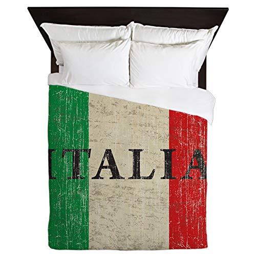 (CafePress Vintage Italia Queen Duvet Cover, Printed Comforter Cover, Unique Bedding, Microfiber)