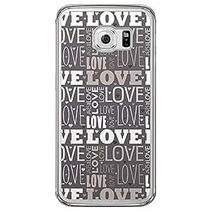 Loud Universe Samsung Galaxy S6 Edge Love Valentine Printing Files Valentine 188 Printed Transparent Edge Case - Grey/White