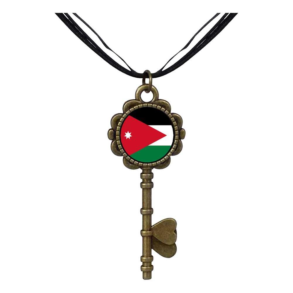 GiftJewelryShop Bronze Retro Style Jordan flag Key to Her Heart Pendant Charm Necklaces
