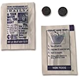 Toilet Leak Detecting Dye Tablets, Detect Silent Toilet Leaks, Toilet Water Saver (2 Tabs/Pkg), Made in the USA