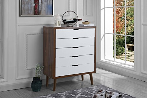 Sofamania Mesa Modern Style Entryway Storage Chest - Brown / ()