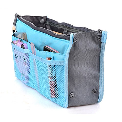 Youngman Women Travel Beauty Cosmetic Bag Makeup Pouch Toiletry Organizer Wash Handbag (Blue)