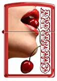 Sexy Red Hot Lips ~ She Loves Cherries ~ Red Matte Zippo Lighter