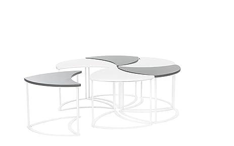 Amazoncom Modern Outdoor Modular Coffee Table Grey White