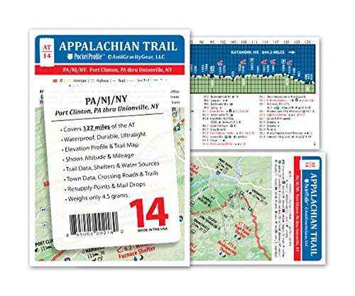 Appalachian Trail Maps AT Pocket Profile Maps Individual Maps AT 14 Port Clinton, PA thru Unionville, NY