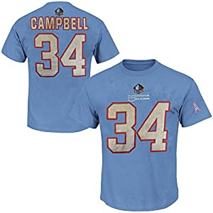 ... mitchell ness throwback houston oilers earl campbell jersey sz 52 Earl  Campbell 34 Houston Oilers NFL 3 Hit Mens Hall Of Fame Player Shirt Blue  Big ... 004acdb16