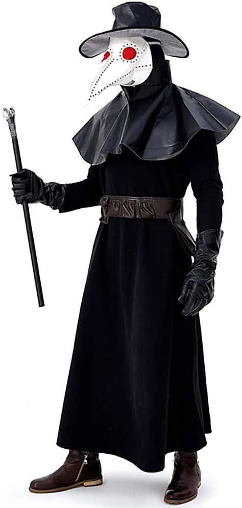 JIANG BREEZE Medieval Plague Doctor Cosplay Disfraz de Halloween ...
