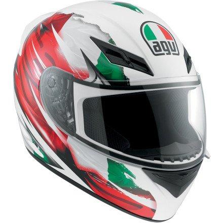 AGV K3 Flag Italy Full Face Motorcycle Helmet (Multicolor, X-Small)