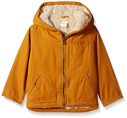 Crazy 8 Boys Twill Sherpa Lined Jacket, Caramel Brown 4T