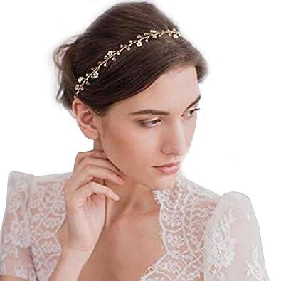 Gracewedding Diadema de cristales para novias, accesorio para bodas