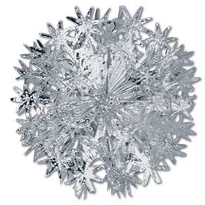 Star Ball (silver) Party Accessory  (1 count) (1/Pkg) ()