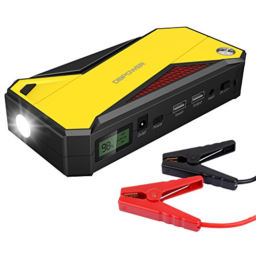 dbpower 600a peak 18000mah portable car jump starter up to 6 5l gas 5 2l diesel engine. Black Bedroom Furniture Sets. Home Design Ideas