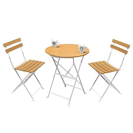 Tavoli Da Esterno Legno E Ferro.Gxygwj Balcone Tavolo E Sedie Da Esterno A Tre Pezzi Combinazione