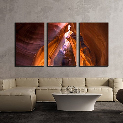 wall26 - 3 Piece Canvas Wall Art - Spectacular Sandstone Scenery - Modern Home Decor Stretched and Framed Ready to Hang - 24