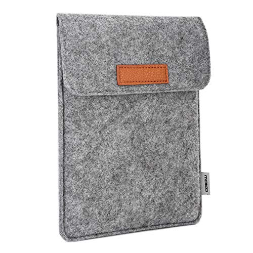 MoKo 6-Inch E-Reader Sleeve Case Bag, Portable Felt Carrying Protective Case Cover Pouch for Kobo Touch 2.0 / Tolino Shine 6
